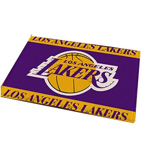 Nba Basketball Mat - Smile Rugs NBA Basketball Star Team Door Mat, Non-Slip Absorbent Bathroom Living Room Living Bedroom Rugs,Lakers,15.839.4in