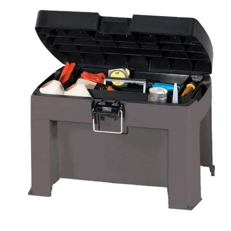 Contico Multi-Purpose Step Stool Tool Storage Removable Tray Inside, Durable, Rugged Construction, Features All-Purpose Storage Space!
