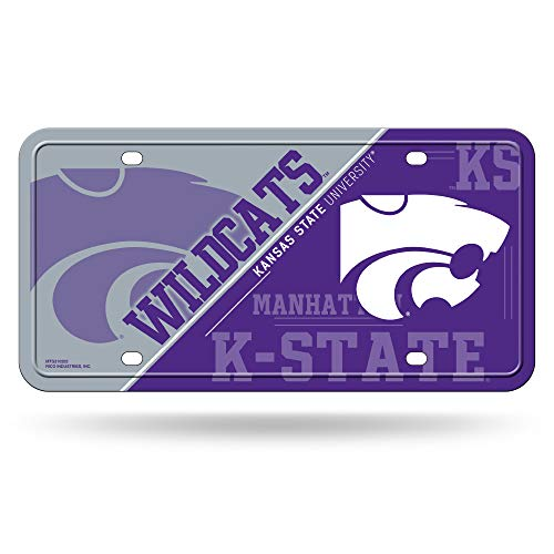 NCAA Kansas State Wildcats Metal License Plate Tag