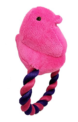 Peeps Squeaky Rope Dog Toy (Pink Chick)