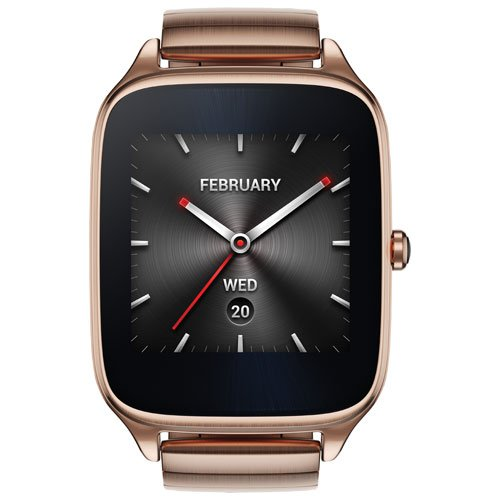 ASUS ZenWatch 2 Smartwatch 1.63'' Stainless Steel - Rose Gold/Rose Gold Metal Band (Certified Refurbished)