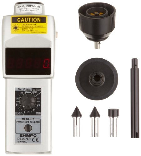 Shimpo DT-207LR Handheld Tachometer with 6