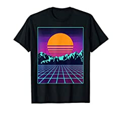 This awesome retro t-shirt is the best gift for anyone who loves the style of the 80's! Amazing colors and geometric patterns featured in this outrun inspired design! Cool 80's and 90's Sun tshirt perfect for an eighties Halloween costume par...