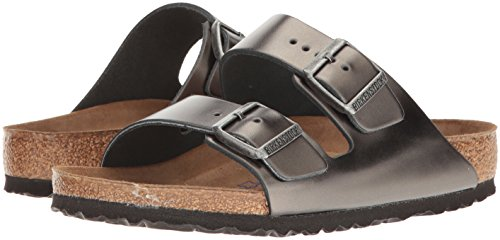 Birkenstock Unisex Arizona Metallic Anthracite Leather Sandals - 39 M EU / 8-8.5 B(M) US by Birkenstock (Image #5)