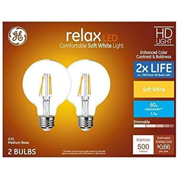 GE Smart 60-Watt Soft White Light Bulb 2-Pack for sale online