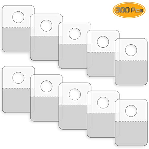 (Neworkg 300 Pack Round Hole Adhesive Hang Tabs - 1.57