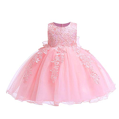 Hot Girls In Dresses (LZH Baby Girls Formal Dress Bowknot Birthday Wedding Party Flower Lace)