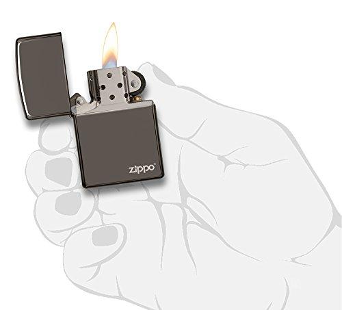 Zippo Black Ice Pocket Lighter with Zippo Logo