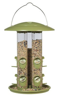 Woodstream 369 6 Lb Capacity Birdscapes Triple Tube Assorted Colors by Woodstream Corp.