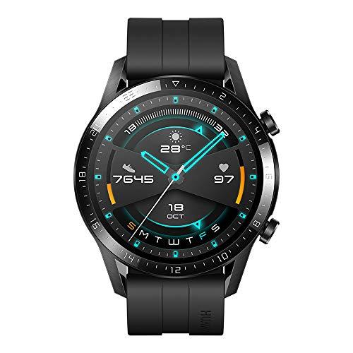 Huawei Watch GT2 Sport – Smartwatch con Caja de 46 Mm (Hasta 2 Semanas de Batería, Pantalla Táctil Amoled de 1.39″, GPS, 15 Modos Deportivos, Llamadas Bluetooth), Negro Mate
