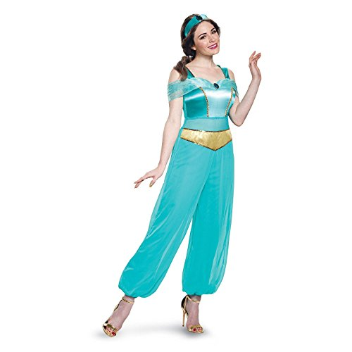 Jasmine Costume Amazon (Disney Women's  Jasmine Deluxe Adult Costume, Turquoise, Medium)