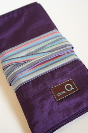 Della Q 180 Interchangeable Needle Case (Purple/Stripe)