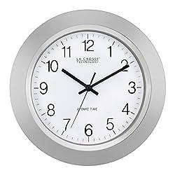 La Crosse Technology WT-3144S 14 Inch Atomic Analog clock - Silver