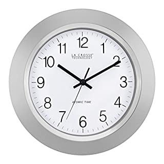 La Crosse Technology WT-3144S 14 inch Atomic Analog Wall Clock - Silver (B0097C42I8) | Amazon price tracker / tracking, Amazon price history charts, Amazon price watches, Amazon price drop alerts