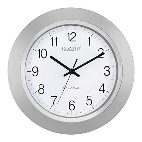 La Crosse Technology 14 Inch Atomic Analog Silver Wall Clock by La Crosse Technology