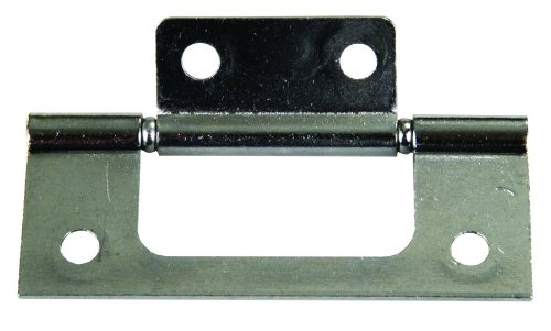 JR Products 70645 Non-Mortise Hinge - Chrome