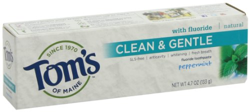 Tom's of Maine Clean and Gentle Care, Peppermint with Fluoride, 4.7 Ounce (Pack of 2), Health Care Stuffs