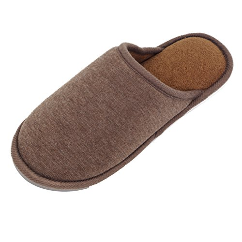 Moodeng House Slippers Memory Foam For Women Men Anti-Skid Indoor Slide Shoes Washable Lightweight Ladies Home Slipper (US 7-8.5 -Men, Brown) by Moodeng (Image #2)