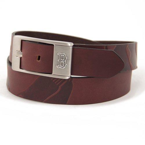 MLB Boston Red Sox Brandish Leather Belt - Brown (36)