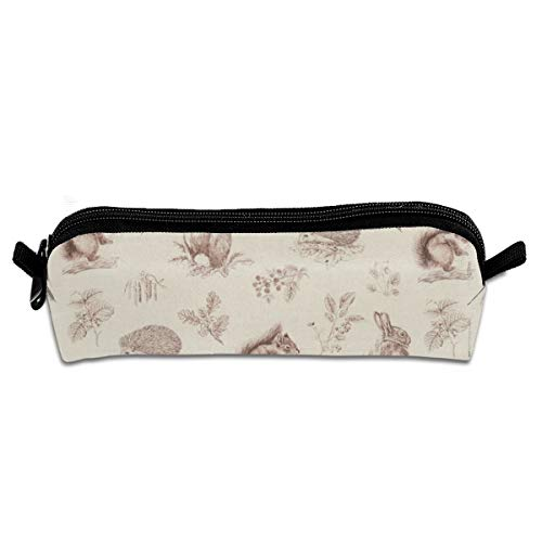 Kui Ju Pencil Bag Pen Case Cute Rabbit Print Cosmetic Pouch Students Stationery Bag Zipper Organizer -