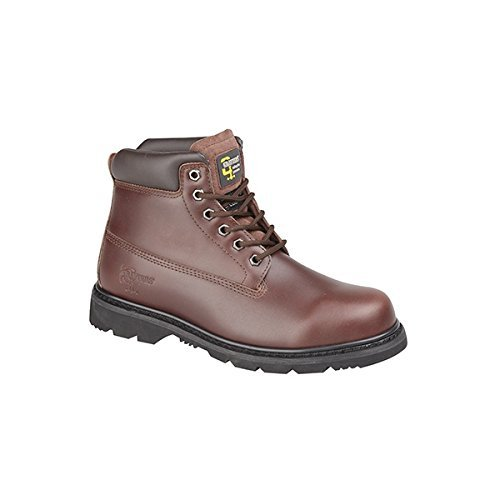sicherheitsgefüllter nicht M030B Up Pull Arbeitsstiefel Braunes Leder Chestnut Grafters STqBwg55