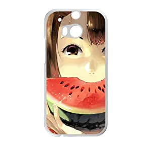 Girl Eat Sweet Watermelon Creative Cell Phone Case For HTC M8