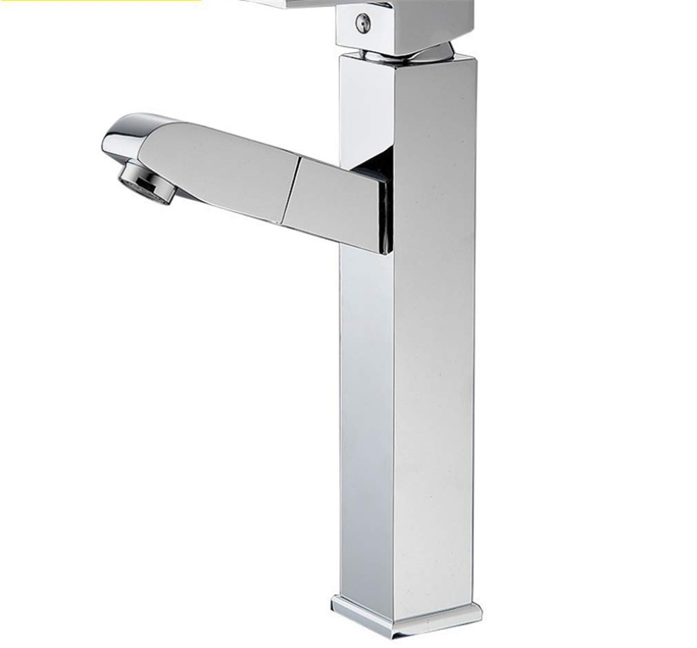 Basin Mixer Tap Bath Fixtures Wash Basinsinkkitchen New All Copper Heightened Pull Faucet, Outlet Faucet, Basin Top Faucet.