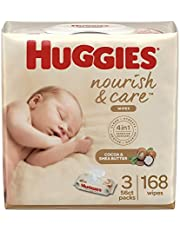 Huggies Nourish & Care Scented Baby Wipes for Sensitive Skin