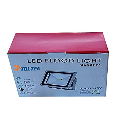 TDLTEK 30W LED Waterpoof Outdoor Security Floodlight 100-240VAC, with Plug, Warm White