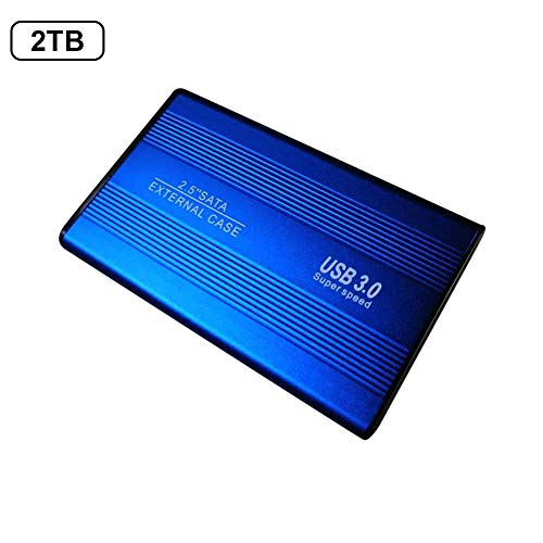 Lorchwise 2.5 Inch External Hard Drive USB 3.0 500GB 1TB 2TB SATA3.0 6Gb Transmission Solid State SSD Portable Mobile High Speed Hard Disk 8MB 5400rpm ()