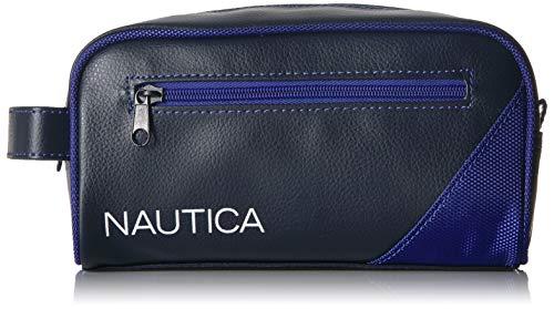 - Nautica Men's Top Zip Travel Kit Toiletry Bag Organizer, royal blue, One Size