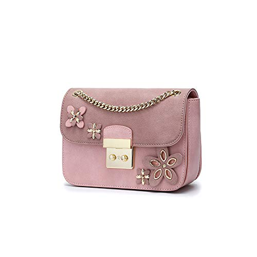 spalle piccola Chain Borsa Spring rosa Ladies colore casual Scoperte Rosa Estate a con Yamyannie Shopping Borsa tracolla 0wqP1FR