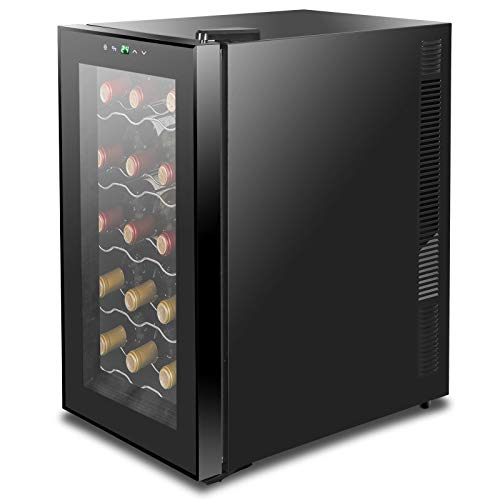 lunanice 18 Bottles Wine Cooler Refrigerator Air-tight Seal Quiet Temperature Control by lunanice (Image #5)