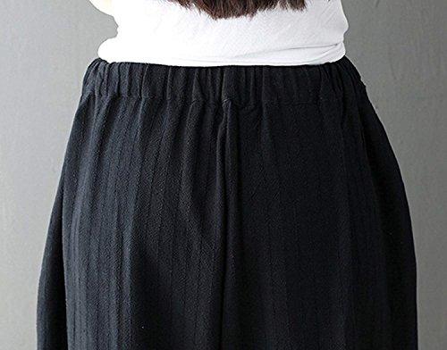 Primaverile Nero Baggy 4 Di Hip Hop Libero Pantaloni Donna Pantaloni Accogliente Pantaloni Aladin Outdoor Autunno Elastica Pantaloni Vita Boho 3 Rinalay Tempo Pantaloni Lanterna Monocromo Lino n4PXXq