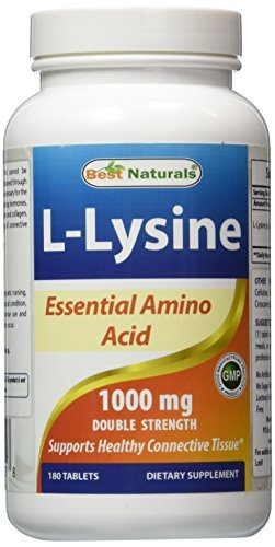 Best Naturals L-Lysine 1000mg 180 Tablets by Best Naturals