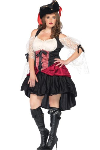 Leg Avenue Witch Costumes (Leg Avenue Women's Plus-Size Wicked Wench Costume, Black, XXX-Large/XXXX-Large)