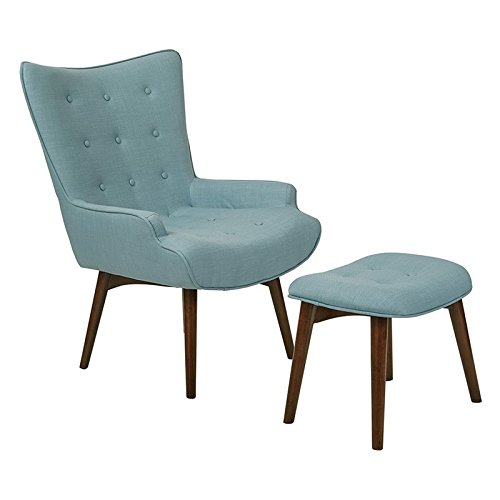 Capri Ottoman - Ave Six Dalton Chair with Ottoman, Capri