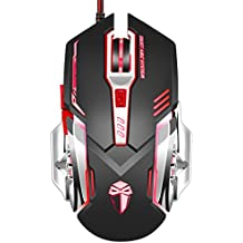 Gaming Mouse Abedi 3200 DPI Wired Programmable 5 Buttons Optical X5 Gaming Mice with Colorful Breathing LED