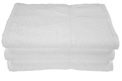 RIEGEL Royal 100-Percent Cotton Bath Towels, 27 by 54, White, 6-Pack