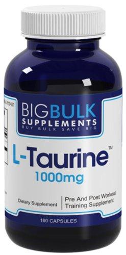 L-Taurine 1000 la synthèse des protéines du métabolisme Acide aminé en vrac Big Fat suplements L Taurine 1000mg 180 Capsules 1 Bouteille