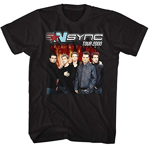 American Classics NSYNC 1995 Boy Band No Strings Attached Tour 2000 Front & Back Adult T-Shirt Tee ()