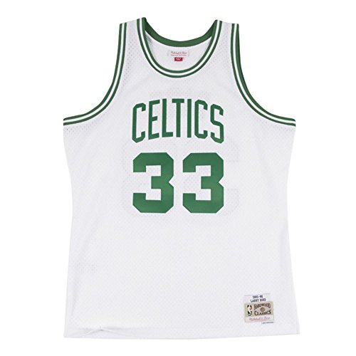 Larry Bird Celtics Jersey (Boston Celtics Larry Bird White Mitchell & Ness Swingman Jersey (Medium))