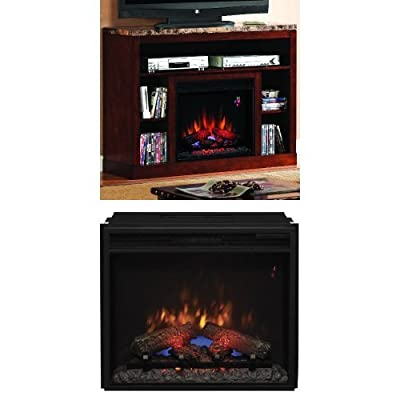 "Complete Set Adams Media Mantel in Empire Cherry with 23"" Spectrafire Plus Insert with Safer Plug"