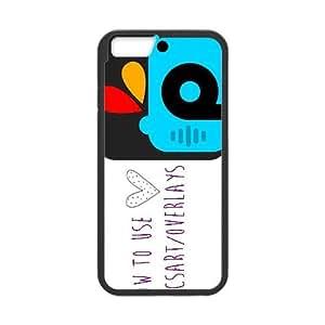 PicsArt iPhone 6 Plus 5.5 Inch Cell Phone Case Black xlb-030777