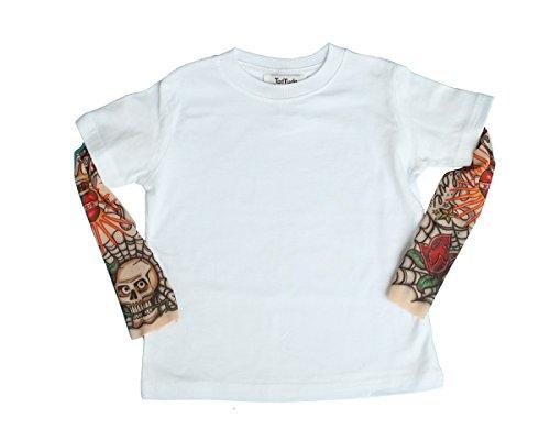 (TotTude Baby Boys' Rockabilly Tattoo Sleeve T Shirt 12 Months)