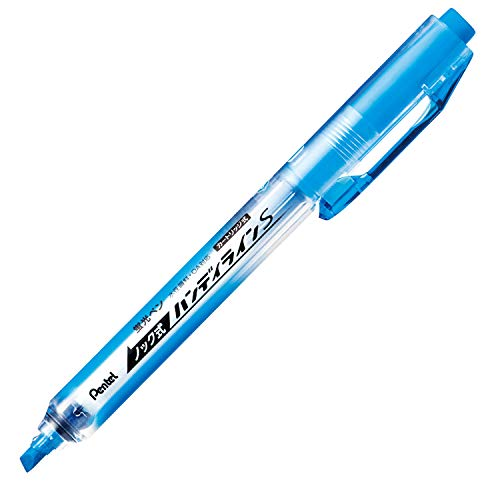 (Pentel Knock Highlighter, Handy Line, Sky Blue (SXNS15-S))