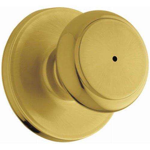 - WEISER Lock GA331 T3 MS 6LR1 Troy Privacy Knob, Bright Brass