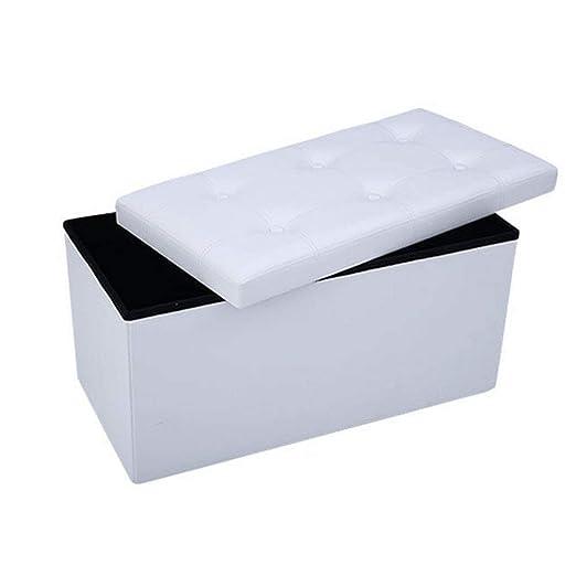 Homeway Baúl Puff Taburete para almacenaje Plegable - Asiento Plegable Arcón Asiento Puf Ordenación Caja de almacenaje 76(CM) x 38(CM) x 38(CM) Carga ...