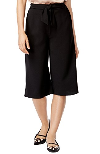 Material Girl Juniors' Sash-Belt Gaucho Pants, Caviar Black, X-Large -