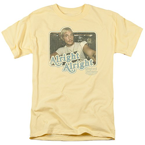 Dazed And Confused Teen Comedy 70S Movie Alright Alright Adult Mens T-Shirt Tee